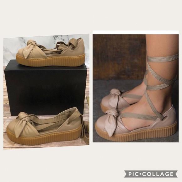 more photos 93617 7e151 Rihanna FENTY by Puma Bow Creeper Lace UP sandals NWT